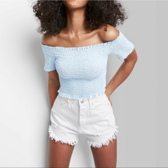Wild fable highest rise distressed shorts